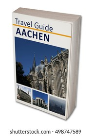 Imaginary travel book Aachen. Isolated on white.
