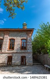 Imam Ali old mosque in Shaki city, Azerbaijan