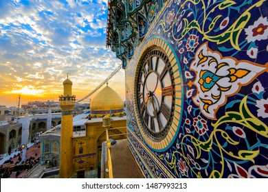 Imam ali Shrine clock gate - najaf - iraq