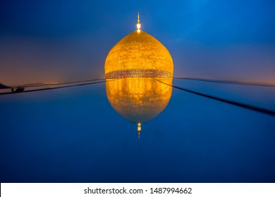 imam ali shrine dome from roof - najaf - iraq