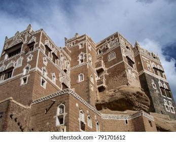 Imam house near Sana'a . Yemen