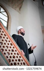 Imam in mosque