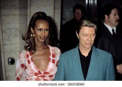 Iman and David Bowie at the Film Society of Lincoln Center honors for Susan Sarandon, NY 5/5/2003