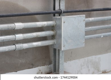 Imc conduit installed on support For Electrical systems,Waterproof conduit