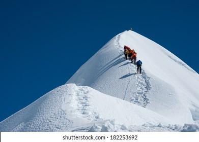 Imja Tse or Island peak climbing, Everest region, Nepal.