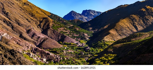 Imlil is a small village in the high Atlas Mountains of Morocco. It is 1,800 metres (5,900 ft) above sea level. It is close to the mountain Jebel Toubkal, the highest peak in Northern Africa.
