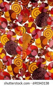 immagine colorata di palle. tissue, textile, fabric, material, texture. Image of balls on the fabric.