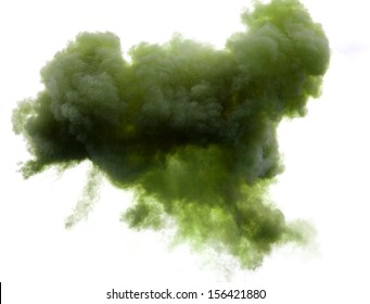 immense green cloud in the sky