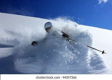 Immersed in powder