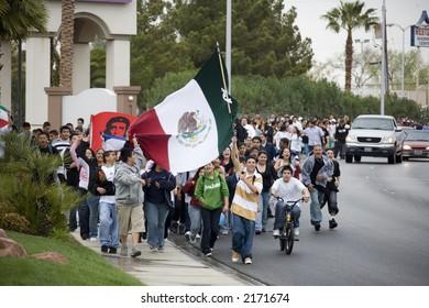 Immigration Protest in Las Vegas Nevada 3/28/2006