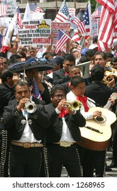 Immigration Protest, Los Angeles, May 1, 2006