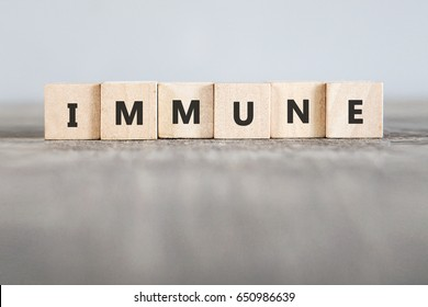 IMMUNE word made with building blocks
