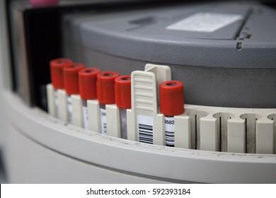 Immunology analyzer tube holder. (Select point focus)