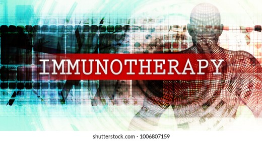 Immunotherapy Sector with Industrial Tech Concept Art 3D Render