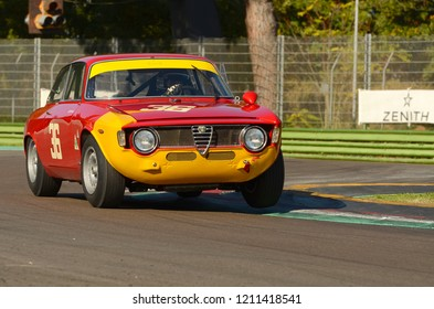 Imola Classic 22 Oct 2016 - 1960 historic Alfa Romeo GTA driven by unknown, during practice on Imola Circuit, Italy.