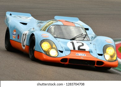 Imola Classic 26 Oct 2018 PORSCHE 917 1970 ex Elford-Attwood driven by Claudio Roddaro during practice session on Imola Circuit, Italy.