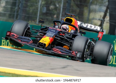 Imola, Italy. 15-18 April 2021. Formula1 World Championship. Gran Prix of Made in Italy and Emilia Romagna. Max Verstappen, Red Bull.
