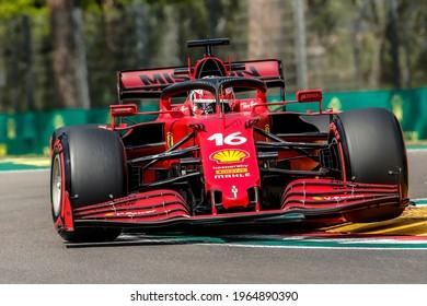 Imola, Italy. 15-18 April 2021. Formula1 World Championship. Gran Prix of Made in Italy and Emilia Romagna. Charles Leclerc, Ferrari.