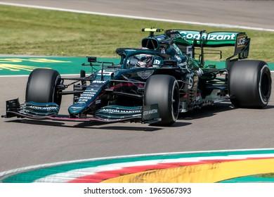 Imola, Italy. 15-18 April 2021. Formula1 World Championship. Gran Prix of Made in Italy and Emilia Romagna. Sebastian Vettel, Aston Martin.