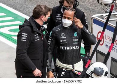 Imola, Italy. 15-18 April 2021. Formula1 World Championship. Gran Prix of Made in Italy and Emilia Romagna. Lewis Hamilton, Mercedes.