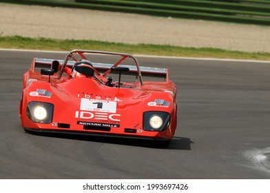 Imola Italy - 8 June 2012: LOLA T 298 BMW 1979 driven by P. LAFARGUE during practice session on Imola Circuit at the event Imola Classic Festival 2012, Italy.