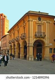 IMOLA, ITALY – APRIL 8, 2006: municipal  pharmacy hospital Santa Maria della Scaletta built in 1762. Famous building along the old Emilia street.