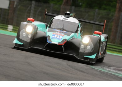 Imola, Italy May 13, 2016: PANIS BARTHEZ COMPETITION FRA Ligier JS P2 - Nissan Fabien Barthez FRA Timothe Buret FRA Paul Loup Chatin FRA, in action during the ELMS Round of Imola, Italy.