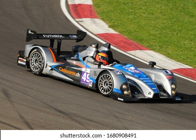 Imola, Italy May 17, 2013: Le Mans Prototype Oreca 09 of Team Endurance Challenge, driven by P. CHATIN / G. HIRSCH, in action during the European Le Mans Series - 3 Hours - Imola, Italy.