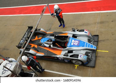 Imola, Italy May 17, 2013: Le Mans Prototype Oreca 09 of Team Endurance Challenge, driven by P. CHATIN / G. HIRSCH, in the Pit Lane during the European Le Mans Series - 3 Hours - Imola, Italy.