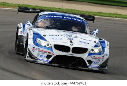 Imola, Italy May 17, 2013: BMW Z4 of Ecurie Ecosse Team, driven by O. MILLROY / A. SMITH / J. TWYMAN, in action during the European Le Mans Series - 3 Hours - Imola, Italy