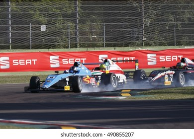 Imola, Italy - September 25, 2016: A Tatuus F4 T014 Abarth of Jenzer Motorsport Team, driven by Siebert Marcos,  the Italian F4 Championship Powered by Abarth in Autodromo Enzo & Dino Ferrari