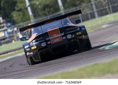 Imola, Italy - September 25, 2016: A Aston Martin Vantage GT3 of Solaris Motorsport Team, driven by SINI Francesco and MUGELLI Massimiliano,  the C.I. Gran Turismo Super GT3-GT3 in Imola, Italy.