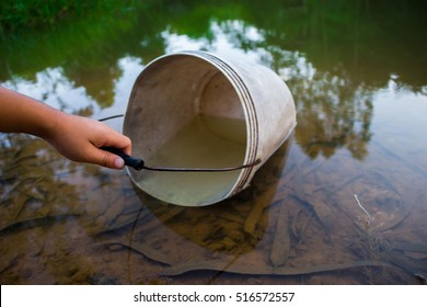 Image result for man fetching water in a pool