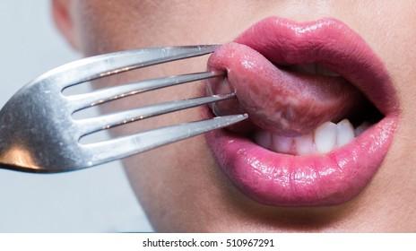 Impaled tongue