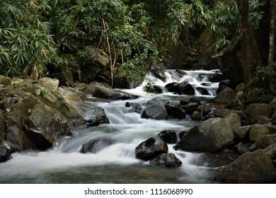 Impassable Mankayam Waterfalls - Brimore Estate, Kerala.