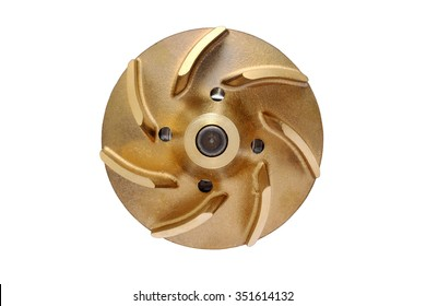 Impeller water pump isolated on a white background