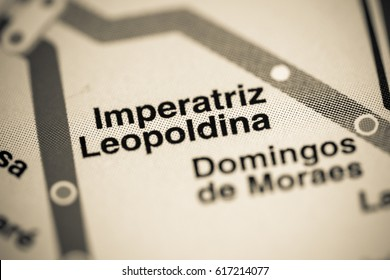 Imperatriz Leopoldina Station. Sao Paolo Metro map.