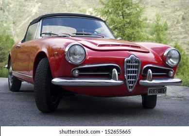 IMPERIA, ITALY - MAY 14: Alfa Romeo Giulietta Spider parked in a street in Imperia, Italy on May 14, 2011.