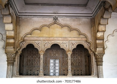 The Imperial Jharoka (throne) Agra fort India