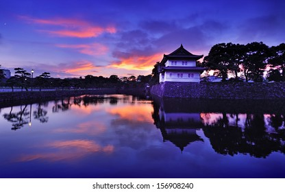Imperial Palace Reflection in Twilight