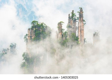 Imperial Pen Peak of Zhangjiajie. Located in Wulingyuan Scenic and Historic Interest Area which was designated a UNESCO World Heritage Site in china.