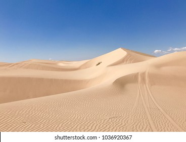 Imperial sand dunes California.  A natural sand playground for sports enthusiasts.