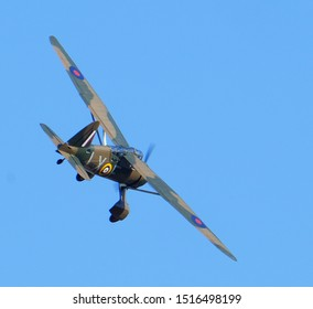 Imperial War Museum. Duxford, Cambridgeshire, UK. 2019 Battle of Britain air show. Westland Lysander. British second world war communications and artillery spotting aircraft.