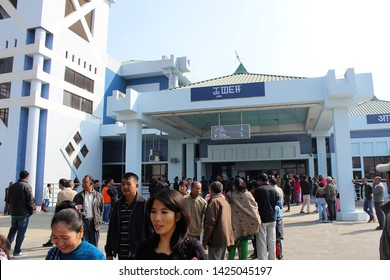 Imphal, Manipur - December 11 2018: A tourist at Imphal Airport or Bir Tikendrajit International Airport. It is the second largest airport built in the Northeastern region of India, after Guwahati.