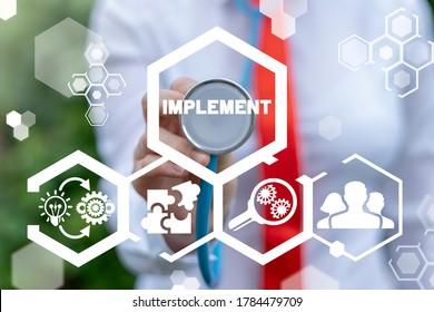 Implementation Business Concept. Idea Plan Success Implement.