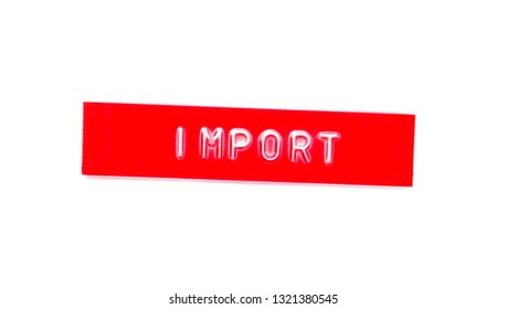 import embossed word on plastic tape