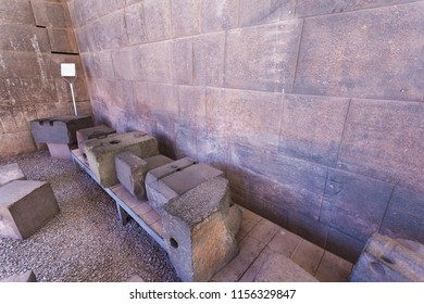 Important Inca ruins preserved inside the temple of Santo Domingo in Cusco, stones carved for a perfect assembly