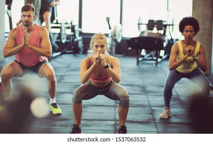 It's important that you are active.  People  workout in gym.