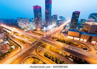 Important transportation hub in Central Business District of Beijing, China