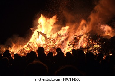 Imposing Campfire at Easter in Germany